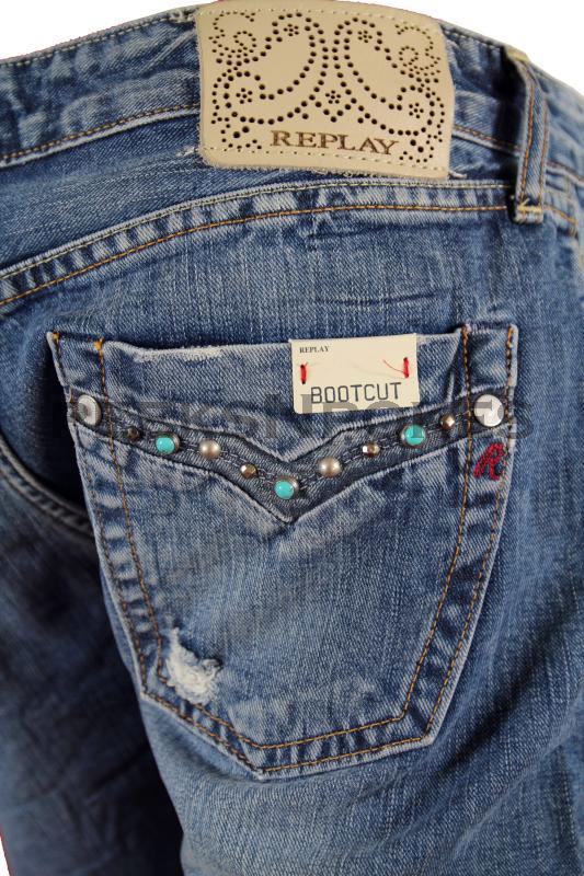 neu replay wendie damen jeans bootcut de luxe w441b. Black Bedroom Furniture Sets. Home Design Ideas