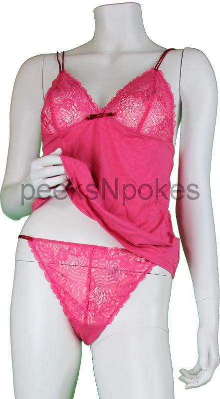 neu calvin klein unterw sche set top mit string rosa gr l. Black Bedroom Furniture Sets. Home Design Ideas